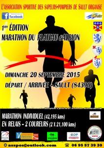 Affiche marathon 2015